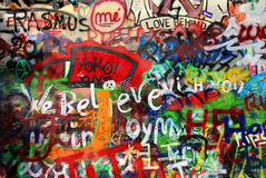 John Lennon wall in Prague Stock Image