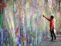 John Lennon Wall Prague Arkivfoton