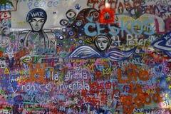 The John Lennon Wall Royalty Free Stock Photo