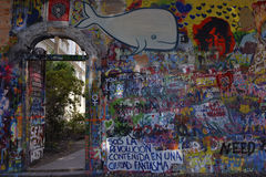 The John Lennon Wall Royalty Free Stock Images