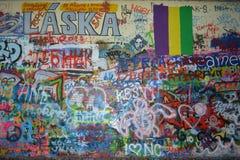 John Lennon Wall in Prague, Czech Republic stock photos