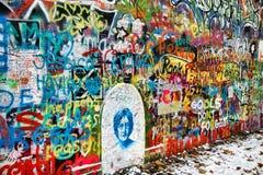 John Lennon Wall, Prague, Czech Republic Royalty Free Stock Images