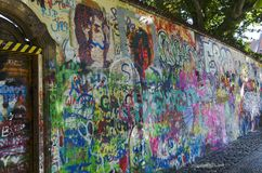 John Lennon wall, Prague Stock Photo