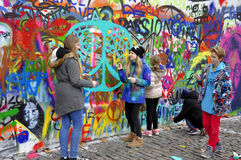 John Lennon Wall Stock Photography