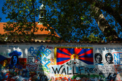 John Lennon wall in Prague Praha Stock Photography