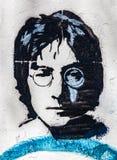 John Lennon Wall, Prague, République Tchèque Fond de plan rapproché de portrait Photographie stock libre de droits