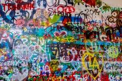 John Lennon Wall, repubblica Ceca Immagine Stock