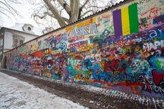 John Lennon Wall, repubblica Ceca, Praga immagini stock libere da diritti