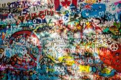John Lennon Wall Tjeckien arkivfoton
