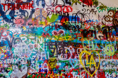 John Lennon Wall Tjeckien fotografering för bildbyråer