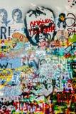 John Lennon Wall Tjeckien royaltyfri bild