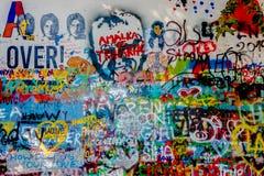 John Lennon Wall Tjeckien arkivfoto