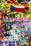 John Lennon Wall Tjeckien royaltyfri fotografi