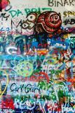 John Lennon Wall Tjeckien arkivbild
