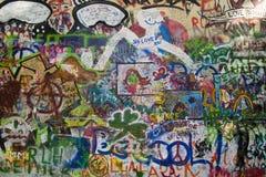 john lennonprague s vägg Fotografering för Bildbyråer