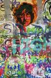 john lennonprague vägg Royaltyfria Foton