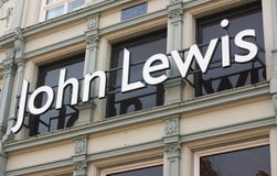 John Lewis Shop Sign Royalty Free Stock Image