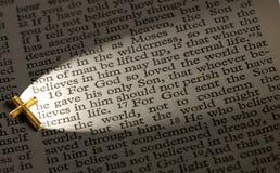 John 3.16. John 3:16 lit up by the cross Stock Image