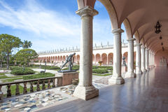 John and Mabel Ringling Museum of Art. A tour of the famous circus magnate John Ringling and his wife Mable`s historic Venetian style mansion in Sarasota Florida royalty free stock images