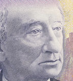 John A. MacDonald. As depicted on new Canadian ten dollar bill Royalty Free Stock Photo