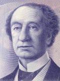 John A. Macdonald portrait. From Canadian money Royalty Free Stock Photos