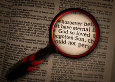 John 316 magnified Stock Photography
