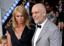 John Malkovich and Peta Wilson Royalty Free Stock Photo