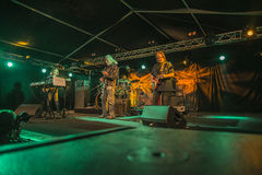 John Mayall-band die samen spelen Royalty-vrije Stock Foto