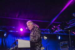 John Mayall jouant le clavier Photographie stock