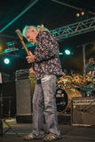 John Mayall playing guitar Royalty Free Stock Image