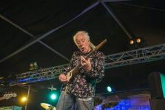 John Mayall playing guitar Royalty Free Stock Images