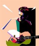 John Mayer w wystrzał sztuki portrecie ilustracja wektor