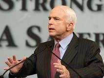 John McCain giving speech in Denver Stock Photography