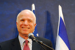 John McCain. SDEROT,ISR - MAR 19:John McCain on Narch 19 2008. He was the Republican presidential nominee in the 2008 United States election but lost to Stock Photography