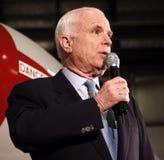 John McCain speech headshot. Senator and Republican Presidential candidate John McCain speaks at a rally in Virginia Stock Photo