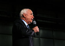 John McCain speech headshot. Senator and Republican Presidential candidate John McCain speaks at a rally in Virginia Royalty Free Stock Photo