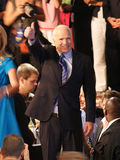 John McCain Thumbs Up in Dayton Ohio. John McCain gives thumbs up gesture after announcing his Vice President pick, Sarah Palin, in Dayton, Ohio at Wright State Stock Photography