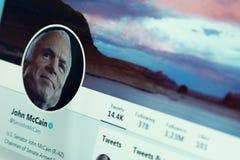 John McCain twitter account royalty free stock photography