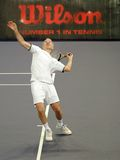 John McEnroe in actions Royalty Free Stock Images