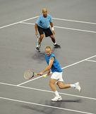 John McEnroe and James Blake in actions Stock Photography