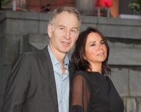 John McEnroe and Patty Smyth. Tennis legend and commentator John McEnroe arrives with wife Patty Smyth for the red carpet by Vanity Fair for the 10th annual Stock Images