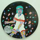 John McEnroe`s acrylic painting by artist Bradley Theodore presented at Luis Armstrong Stadium during US Open 2016 Stock Photo
