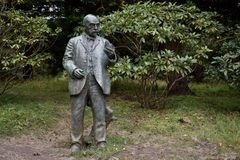 John McLaren Statue och Golden Gate Park arkivbilder