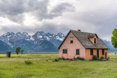 John Moulton Homestead. Historic John Moulton Homestead along Mormon Row in Grand Teton National Park, Jackson, Wyoming royalty free stock photography