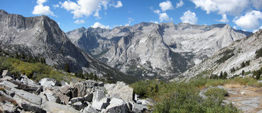 John Muir and Pacific Crest Trails in Kings Canyon National Park Stock Photos