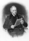 John Murray II. (1778-1843) on engraving from the 1800s. Scottish publisher and member of the famous John Murray publishing house. Engraved by E.Finden and Royalty Free Stock Images