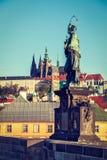 John of Nepomuk (or John Nepomucene) national saint of the Czech Stock Photo
