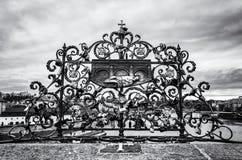 John Nepomuk and many locks of love, Prague royalty free stock photo