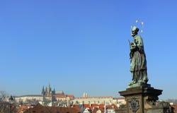 john nepomuk Prague st Fotografia Royalty Free