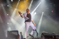 John Newman in Moscow September 2015 Stock Image
